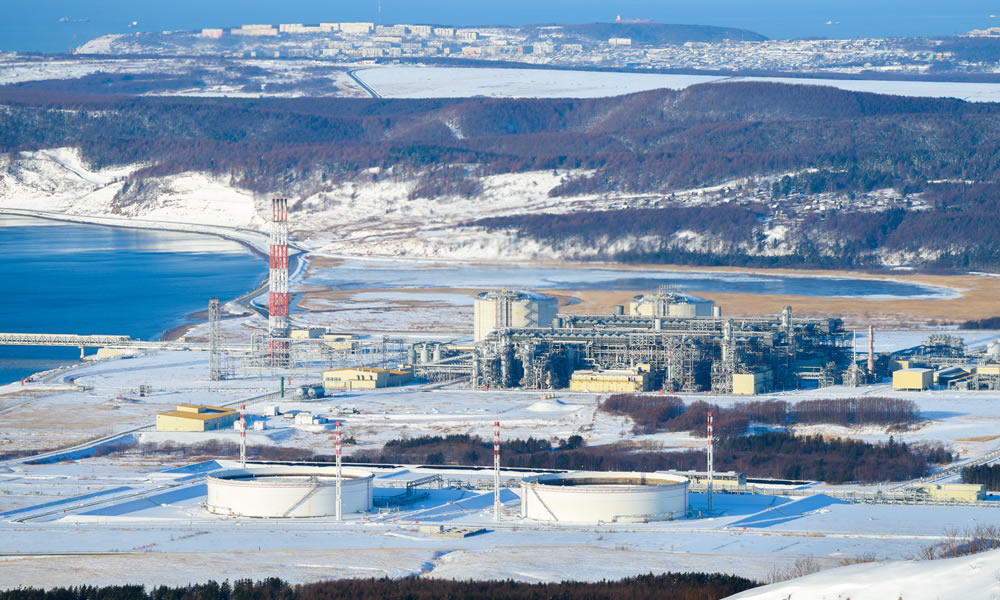 LNG plant, Sakhalin island, Russia